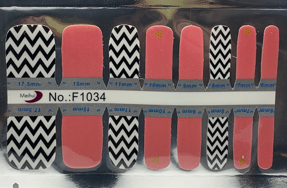 Quick Dip Toes Chevron with Solid Blush