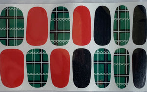 Quick Dip Green Tartan Time