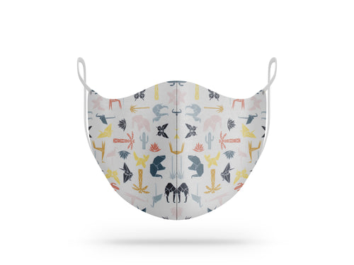 Maschera lavabile in cotone biologico fantasia origami animali - The Face Mask