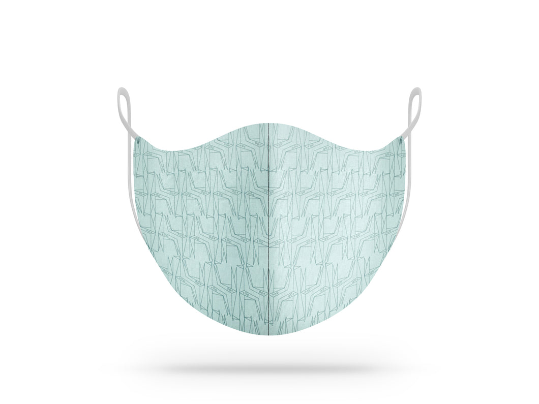 Maschera lavabile in cotone biologico fantasia origami giraffe - The Face Mask