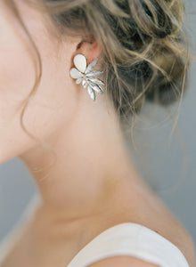 Falcon in White-earrings-Hushed Commotion