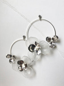 Tami Hoops in Silver (1 unit Ready to Ship)