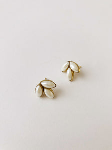 Sarah earrings in Pearl-earrings-Hushed Commotion