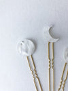Moon Phase Hair Pins-Hair Adornments-Hushed Commotion