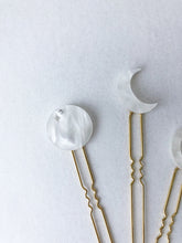 Load image into Gallery viewer, Moon Phase Hair Pins-Hair Adornments-Hushed Commotion