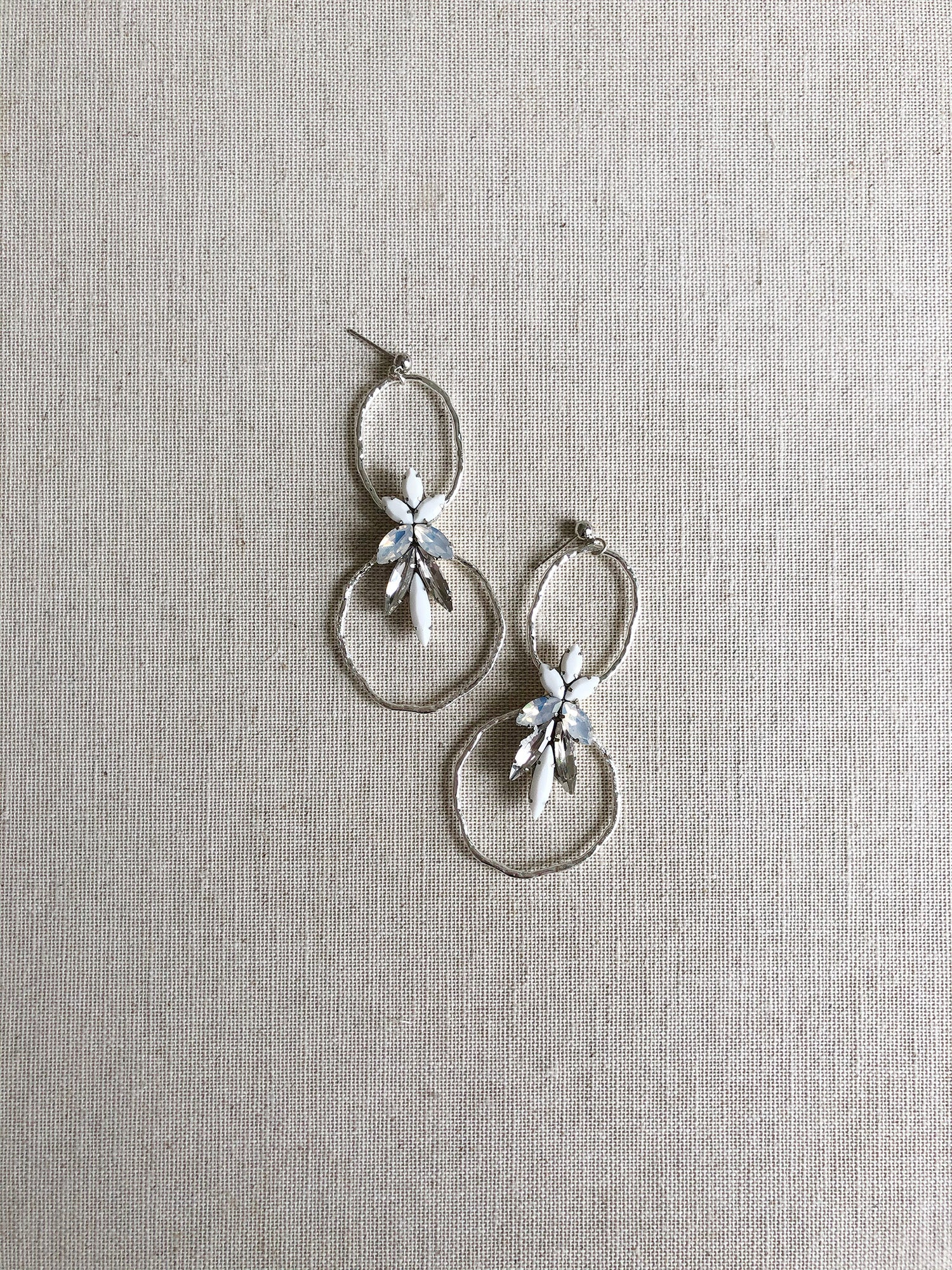 Magdalena Hoop Earrings in Silver PRE-ORDER