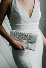 Load image into Gallery viewer, MeDusa + HushedCommotion Beaded Slim Clutch (white)-special-collab-hand-bags-Hushed Commotion