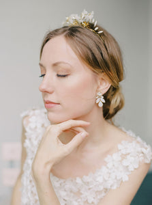 Mandy Earrings in Ivory