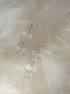 WILLA: Tiered Bow Earrings SP2021