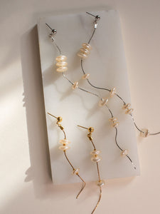 LENNOX: Minimalist Pearl SHORT drop earring SP2021 [gold or silver]
