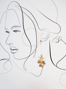 Floral Drop Earring SP2021 [gold or silver]