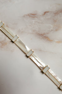 "MOP and Moonstone Geometric Belt ""Harriet"" [NEW 2021]"