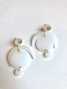 Milk glass resin Sloane earrings // ARCHIVE SALE