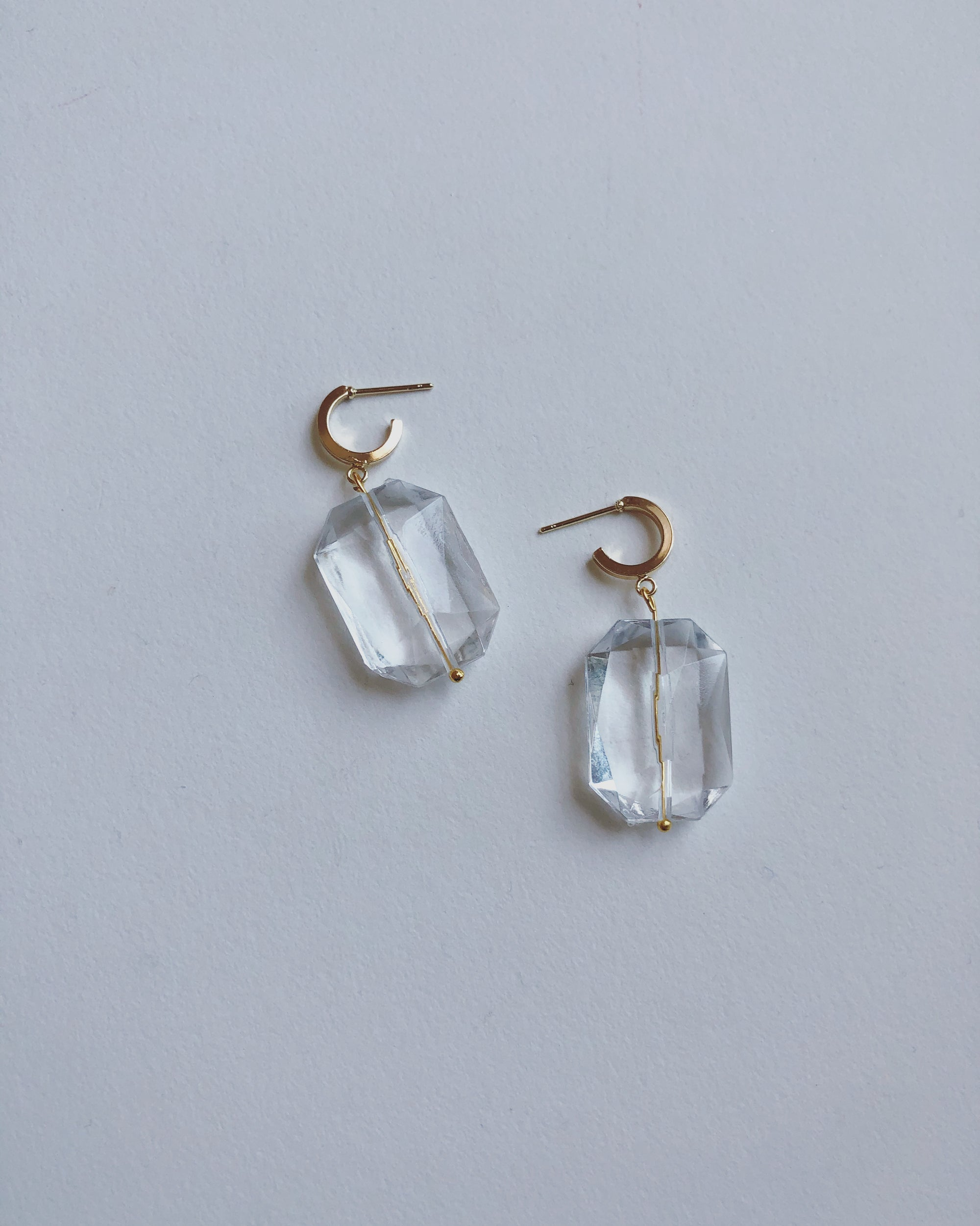 Crystal Hoop drop earrings #HC30