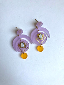 Lilac and Marigold Earring // ARCHIVE SALE
