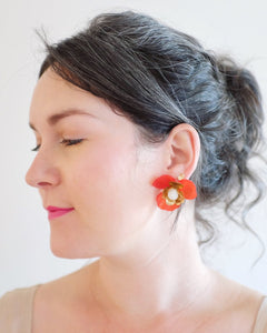 """Malin"" Stud Earrings // Orange Ombre-honeymoon-collection-Hushed Commotion"