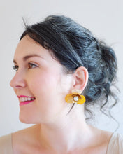 "Load image into Gallery viewer, ""Malin"" Stud Earrings // Ombre Yellow-honeymoon-collection-Hushed Commotion"