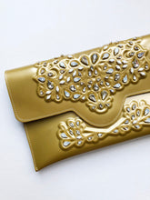 Load image into Gallery viewer, MeDusa + HushedCommotion Beaded Slim Clutch (gold)-special-collab-hand-bags-Hushed Commotion