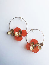 "Load image into Gallery viewer, ""Tami"" Hoop Earrings // Orange-honeymoon-collection-Hushed Commotion"