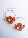 """Tami"" Hoop Earrings // Orange-honeymoon-collection-Hushed Commotion"