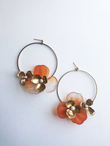 """Tami"" Hoop Earrings // Orange Ombre-honeymoon-collection-Hushed Commotion"