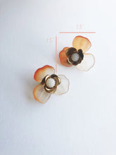 "Load image into Gallery viewer, ""Malin"" Stud Earrings // Orange Ombre-honeymoon-collection-Hushed Commotion"
