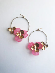 """Tami"" Hoop Earrings // Pink-honeymoon-collection-Hushed Commotion"