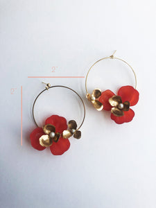 """Tami"" Hoop Earrings // Red-honeymoon-collection-Hushed Commotion"