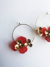 "Load image into Gallery viewer, ""Tami"" Hoop Earrings // Red-honeymoon-collection-Hushed Commotion"