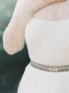 Ainsly Belt: Pewter/Silver-belts-Hushed Commotion
