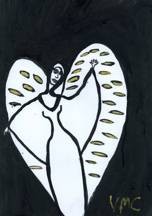 Angel Metatron acrylic on canvas copy
