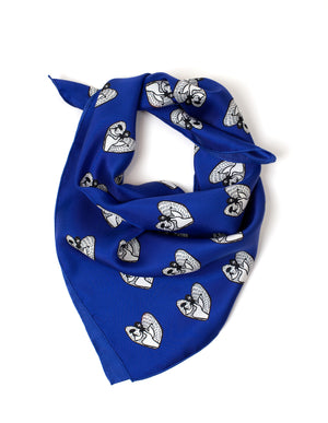 Gaelitrea the Inner Guidance Angel square silk scarf sapphire blue