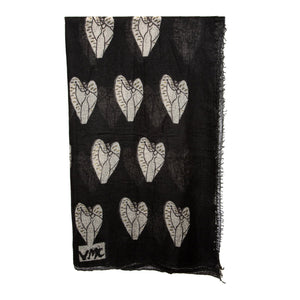 Metatron Cashmere scarf hand numbered limited edition collaboration with Frenckenberger