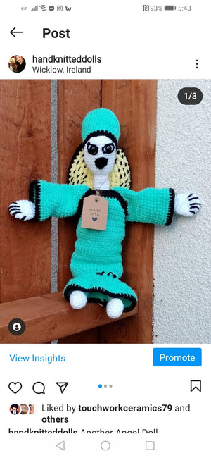 Leesatrea hand knitted doll