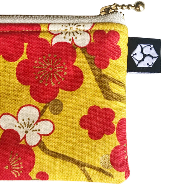 Red 𝚊𝚗𝚍 Gold Sakura Zipper Pencil Pouch