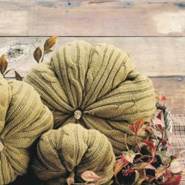 Sage Knit Pumpkin - 7''