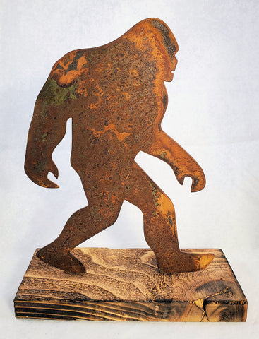 Rusted Metal Bigfoot