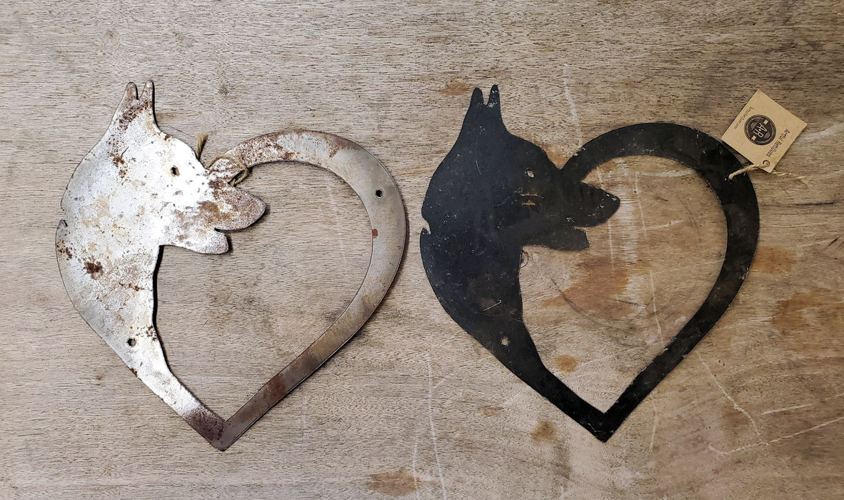 Metal Dog Heart - Large