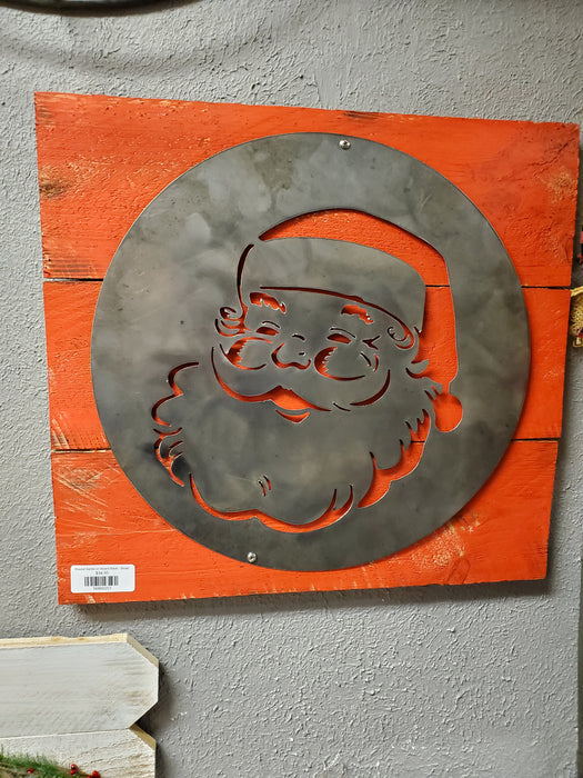 Round Santa on Board Back - Small