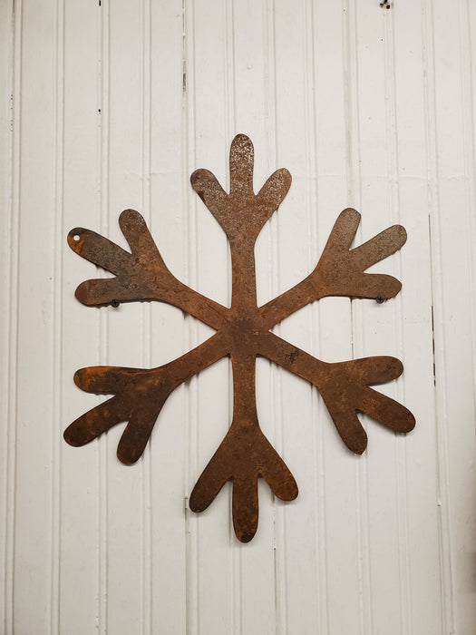 Rusty Metal Snowflake
