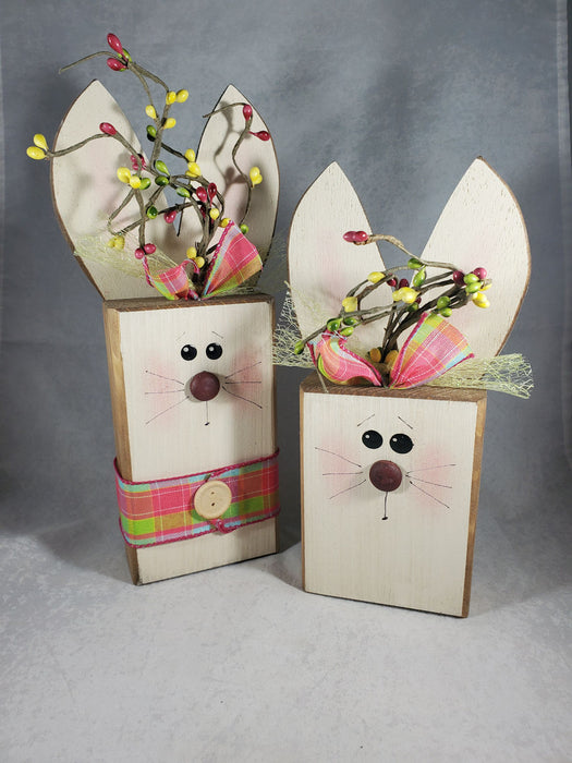 Wood Block Bunny
