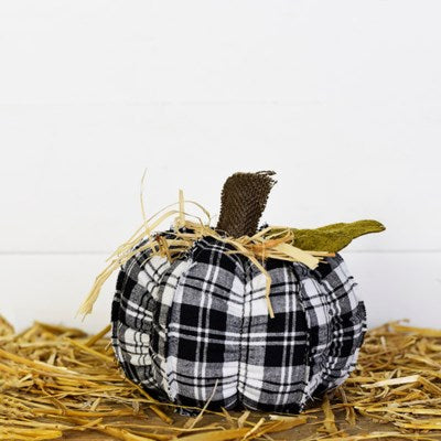 "7"" Plaid Pumpkin"