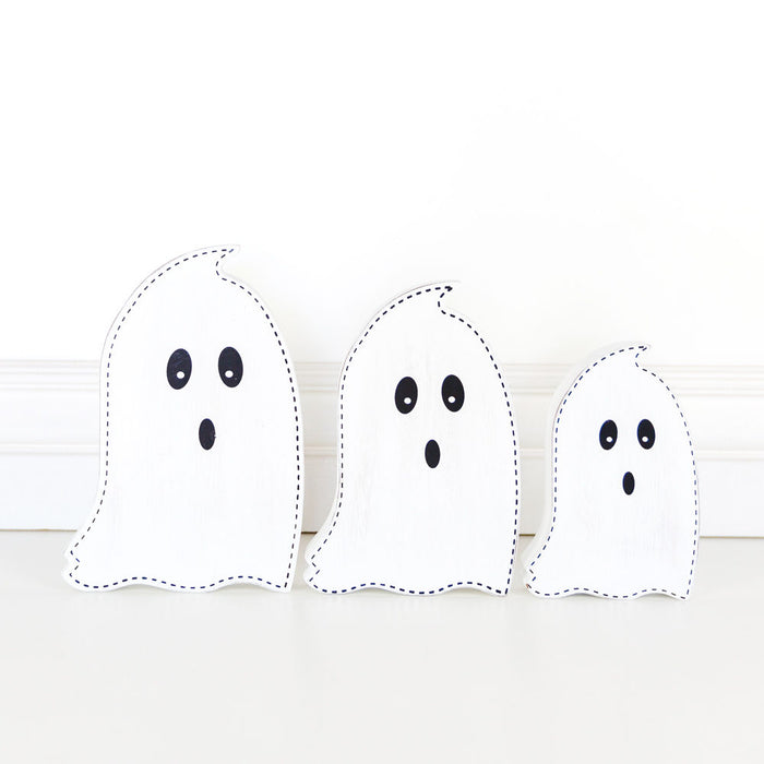Ghosts - Wood Cut-Outs, Set of 3