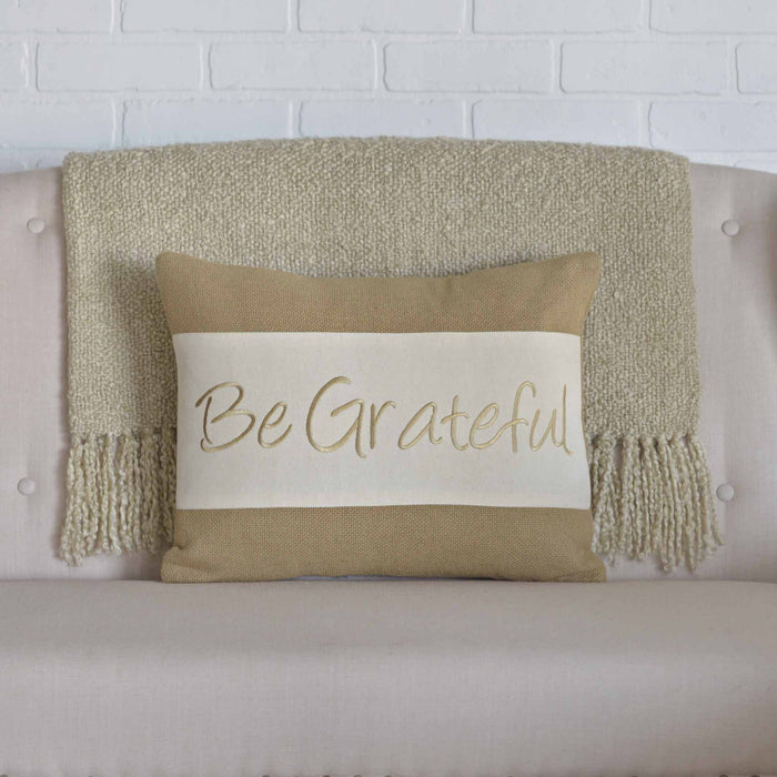 Be Grateful Pillow - 14 x 18