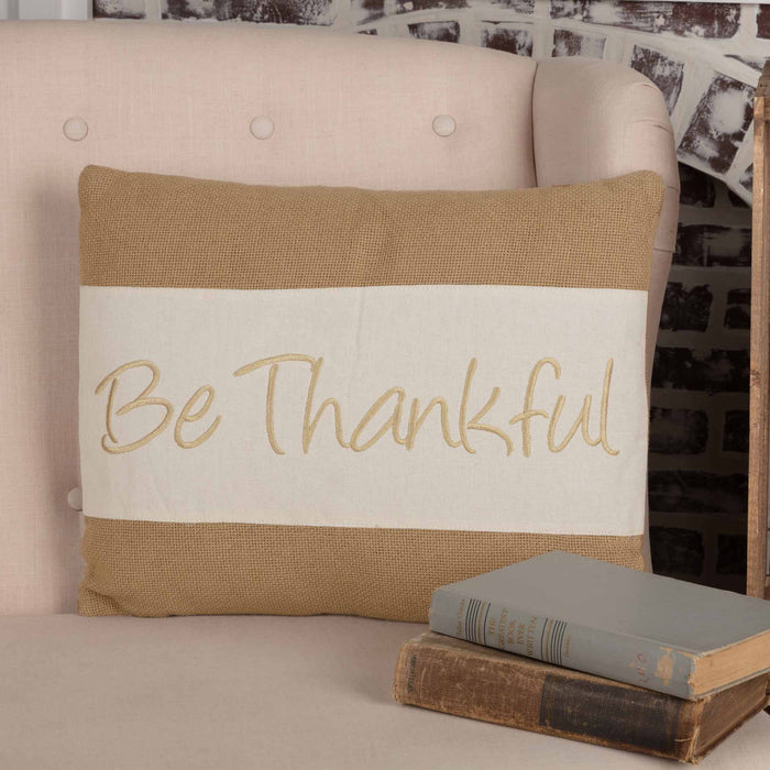 Be Thankful Pillow - 14 x 18