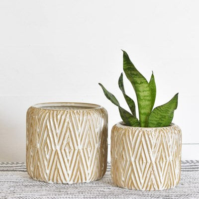 Diamond Pattern Planter 2 Sizes
