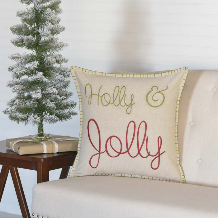 Holly & Jolly Pillow 18X18