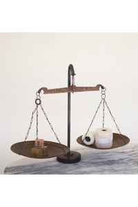 Rusty Metal Scale w/weighted Iron Base