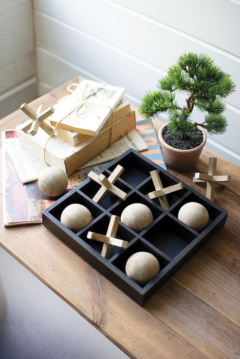 Wooden Tic-Tac-Toe Set