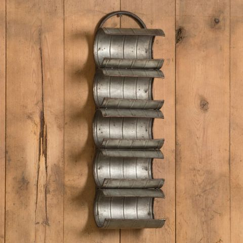 Wine Rack - Wall Mounted Galvanized